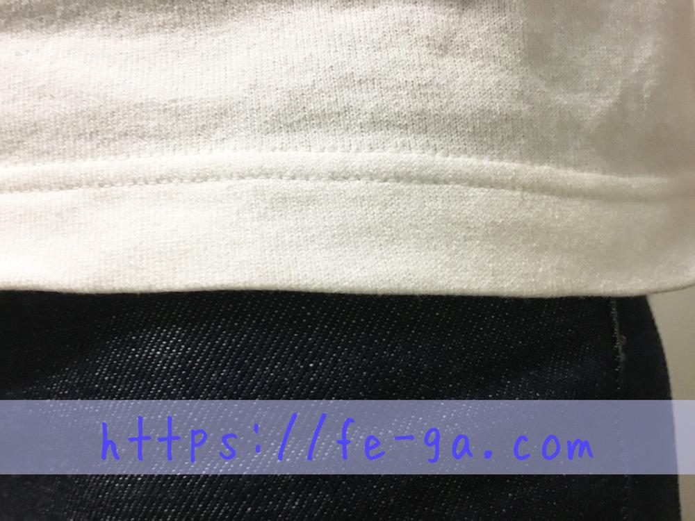 袖と裾の折り返しの幅